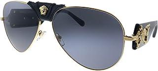 Versace - Gafas de Sol Versace VE 2150Q Black Gold/Grey 62/14/140 hombre