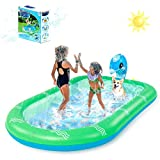 Chomunce Kids Inflatable Sprinkler Pool, Water Jet Pool, Baby Toddlers Outdoor Wading Playing Toys, Children's Splash Pad, Summer Swimming Games Mat for Boys and Girls(Small and Large Size)