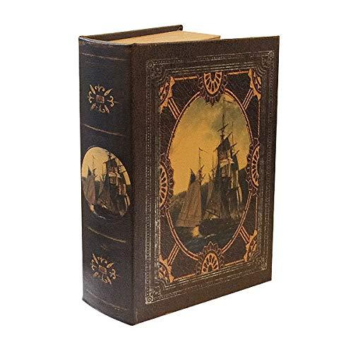 zeitzone Hohles Buch mit Geheimfach Buchversteck Segelschiff Vintage Kolonialstil Piraten