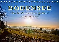 """Bodensee - """"Die Doerfer sind wie ein Garten ..."""" (Rainer Maria Rilke) (Tischkalender 2022 DIN A5 quer): Eine der schoensten Urlaubsregionen, die Bodensee-Region. (Monatskalender, 14 Seiten )"""