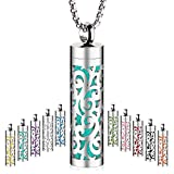 Maromalife Essential Oil Diffuser Necklace, Aromatherapy Pendant Locket 316L Stainless Steel Diffuser Jewelry Necklace Gift for Men&Women