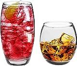 Argon Tableware Tondo - Longdrink- und Trinkgläser für den täglichen Gebrauch - 510 ml & 405 ml -...