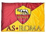 Bandera de Roma original 100 x 150 cm, oficial, amarillenta con licencia escudo y año fundación 1927 + ojal para bastón