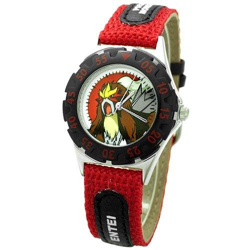 [ポケットモンスター]Poket Monster 腕時計 リストウォッチ キッズ アロイダイバーウォッチ エンテイ レッド PK10118 ボーイズ