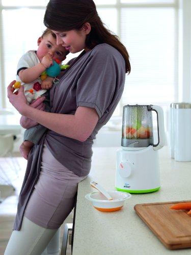 Philips Avent 2-in-1 Babynahrungszubereiter SCF870/20, Dampfgaren und Mixen, 800ml Kapazität, weiß - 6