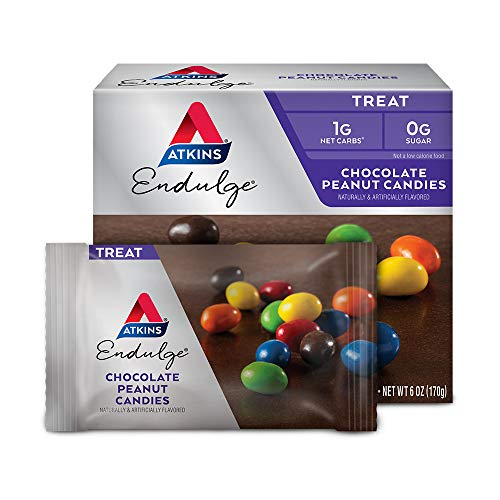 Atkins Endulge Treat, Chocolate Peanut Candies, Keto Friendly, 5 Count (Pack of 4) from Atkins Nutritionals, Inc