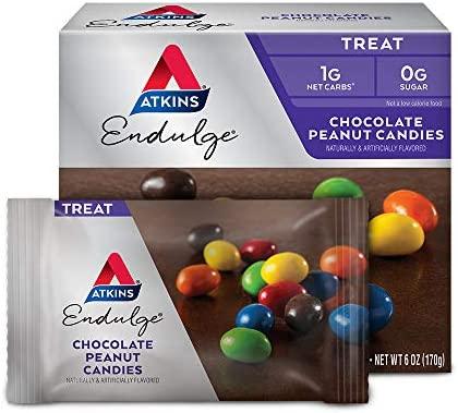 Atkins Endulge Treat Nutty Fudge Brownie Bar. Decadent Brownie Treat with Chocolatey Coating and Walnuts. Keto-Friendly. (5 Bars)