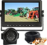 Veise 9' Rear View Backup Reverse Side Camera Cab Video System for Forklift Excavator Tractor