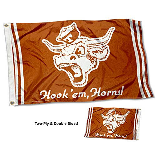 College Flags & Banners Co. Texas Longhorns Vault Throwback Vintage Double Sided Flag