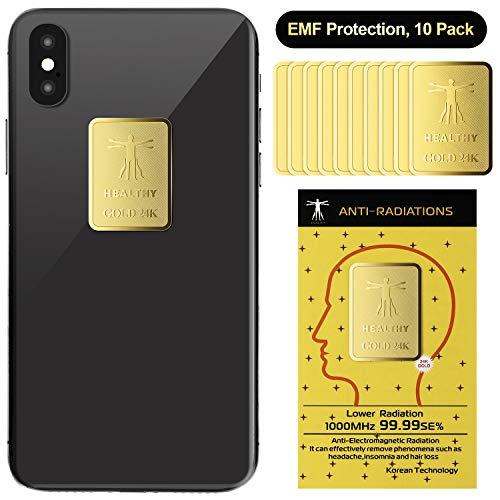 10 Stück Strahlenschutz Handy Aufkleber EMF Blocker Anti Strahlenschutz Aufkleber Elektronische Geräte Strahlen Blocker für Handys Computer Laptops
