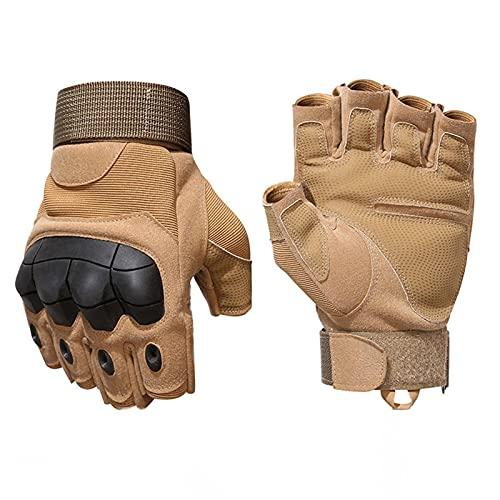 Guantes de motocicleta antideslizantes que absorben los golpes, guantes de moto transpirables de medio dedo para carreras de carretera, ciclismo, escalada, motocross para hombres y mujeres