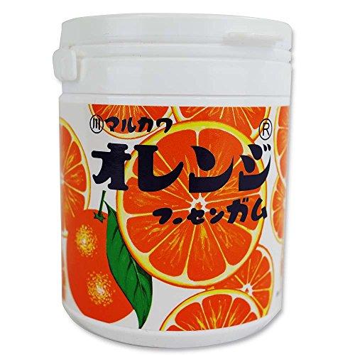 マルカワ オレンジマーブルガムボトル130g×6個