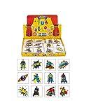 Henbrandt Super Hero 24 Superhelden-Tattoos für Kinder, Multi, 24er-Pack