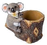 HOMERRY - Figura de oso de Koala (22,8 cm), diseño de oso de hadas, jardín y resina para suculentas...