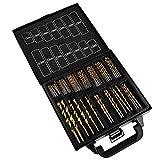 RWDXYYQC Drill Set Caja de hierro Vestido Acero de alta velocidad Ti Flores de...