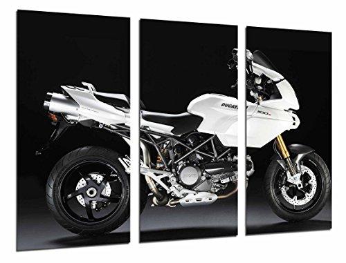 Cuadro Fotográfico Moto Ducati 1100s, Carretera, Blanca, Tamaño total: 97 x 62 cm XXL