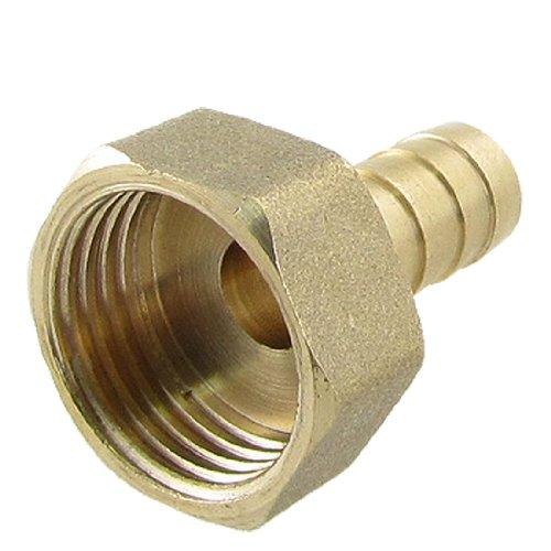 Gold ton Messing Fitting 10mm Schlauch Schlauchtülle 1,27cm Innengewinde Gerader Verbinder de