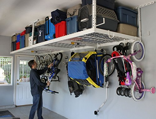 Garage Storage Organizer Racks Ceiling Overhead Drop Basement Heavy Duty Home Kit Accessories Hardware Steel Industrial Space Hooks Utility