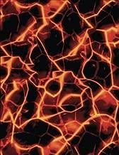 2017, 2018, 2019 Weekly Planner Calendar - 70 Week - Fire Lava Art: Red Lava from Volcano, Closeup Flow