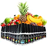 Maxiliving E Liquids 20 x 10ml, 20 Aromen E Zigarette Liquids Set, 50VG/50PG Vape Liquids, ohne...
