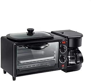 Máquina eléctrica desayuno, 3 en 1 horno tostador Inicio Cafetera pizza huevo Tarta Horno sartén Máquina de hacer pan, con un 30 minuto Temporizador - Temperatura ajustable de control