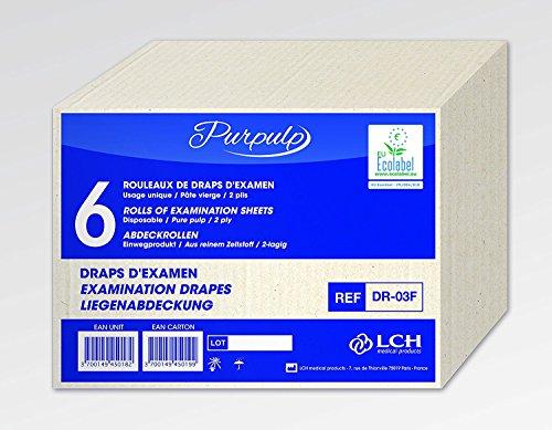 LCH Hoja de revisión Smooth Pure White 70 x 38 cm, 3 m, Caja de 6 Rollos 🔥