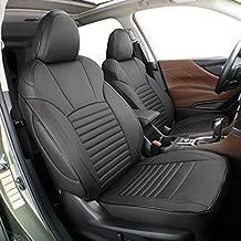 EKR Custom Fit Full Set Car Seat Covers for Select Subaru Impreza 2018 2019 2020 2021 - Leatherette (Black)