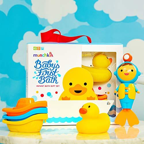 Munchkin Coffret Cadeau Jouets de Bain pour Bébés, 5 Pièces