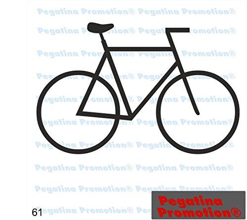 Piktogramm Typ 61 Icon Symbol Zeichen Fahrrad Radfahrer Radweg Fahrradständer Aufkleber ca.15cm von Pegatina Promotion® Aufkleber mit Verklebehilfe von Pegatina Promotion® ohne Hintergrund geplottet