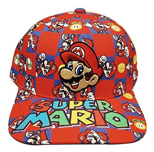 Super mary sónico sombrero Super Mario Bros Costura Bordado Gorra de béisbol Niños Niña Niño Cosplay Flat Casual Hip Hop Hat Viaje al aire libre Sombrero de sol Juguetes