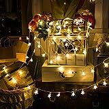 led stella luce stringa decorativa stelle luci stringa di luce a stella a cinque, interno e esteerno per festa, giardino, natale, halloween, matrimonio [classe di efficienza energetica a]