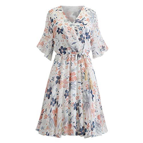 Best Buy! Giulot Plus Size Elegant Strapless 3/4 Sleeve Cocktail Party Dress Vintage Floral Print Pl...