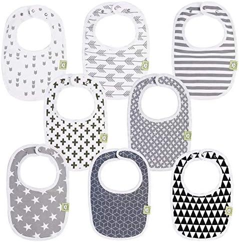 Organic Baby Bibs for Boys Girls Organic Cotton Teething Bib Newborn Bibs for Baby Girl Boy product image