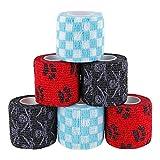 Paws & Patch 6er-Set selbsthaftender Verband für alle Haustiere (Hunde, Katzen, Pferde) I Piraten Box I kohäsive Bandagen I Tierverband I Fixierbinden I Pet Vet Wrap I Tapes I 5cm x 4,5m
