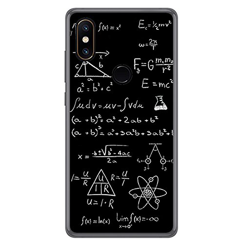 Tumundosmartphone Funda Gel TPU para XIAOMI MI Mix 2S diseño Formulas Dibujos