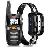 CLEEBOURG Dog Shock Collar, Remote Dog Training Collar with 3 Correction Remote Training Modes, Vibration, Shock, Beep, Adjustable Collar Strap for Small Medium Large Dog