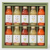 なかひら農場 国産果物&野菜100%ジュース10本健康ギフト G-10本