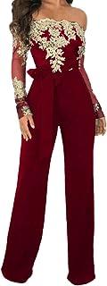 Pluszing Womens Sleeveless Playsuit Chic Wide Leg Pants Solid Color Slim Romper Jumpsuit