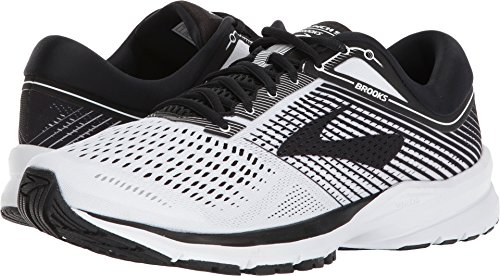 Brooks Mens Launch 5 - White/Black/White - D - 8.5