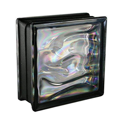 baratos y buenos 6 bloques de vidrio BMW ASSER Pearl Black 19x19x8cm calidad
