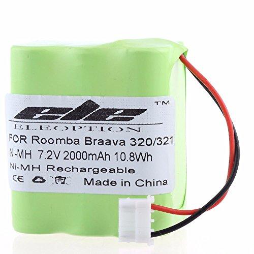 Eleoption - Batería Ni-MH para iRobot Braava 320 321 / Mint 4200 4205 limpiador de suelo Robot 4408927 (7,2 V)
