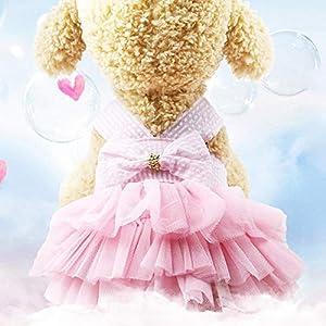 SHMR Sommerkleid für Hund Haustier Hund Kleidung Hochzeitskleid Rock Welpe Kleidung Frühlingsmode Jean Haustier Kleidung XS-L Haustier Kleidung, Weiß, M.