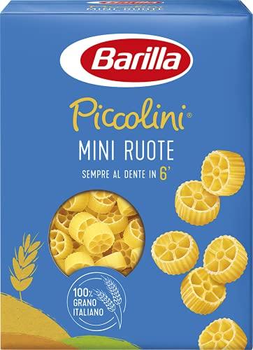 Barilla Pasta Mini Ruote Piccolini, Pasta Corta di Semola di Grano Duro 100% Italiano, 500 gr