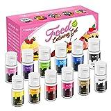 Gel Food Coloring, ValueTalks 12 Colors Vibrant Icing Colors Tasteless Edible Food Dye .44 Fl Oz...