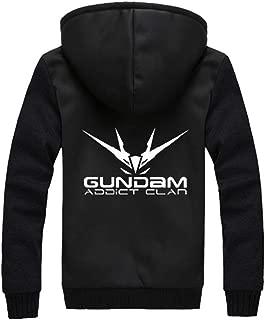 Anime Mobile Suit Gundam Espesar Sudaderas con Capucha Chaqueta Cosplay Disfraz Invierno Calentar Hoodie Jacket Suéter Abrigo