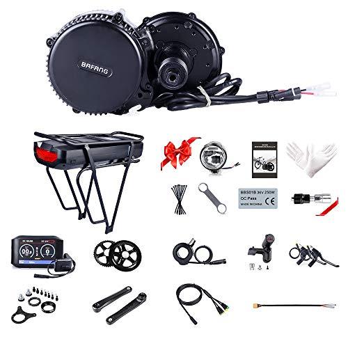 Bafang Bicicleta Eléctrica BBS02B 48V 750W 100MM Kit de conversión de Bicicleta de montaña, Opcional 48V 11.6/13Ah/17,5Ah Downtube Batería/Portaequipajes Batería 17,286Ah