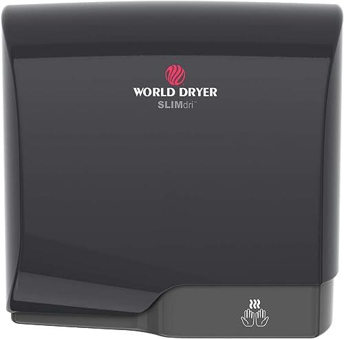 popular World Dryer sale L-162 SLIMdri online Efficient Commercial Surface Mounted ADA Compiant Universal Voltage 110-240V Hand Dryer, Aluminum Cover, Black online