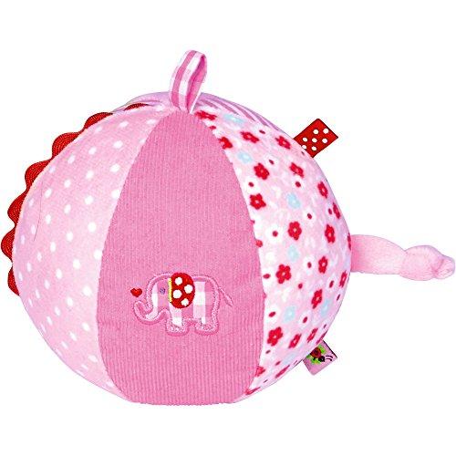 Spiegelburg 13573 Stoffball mit Glockenspiel BabyGlück, rosa