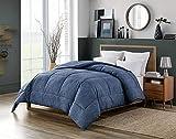 Swift Home Ganzjahresdecke, extra weich, luxuriös, klassisch, leichte warme Gänsedaunen, Alternative Daunen, 198,1 x 228,6 cm, dunkles Indigo