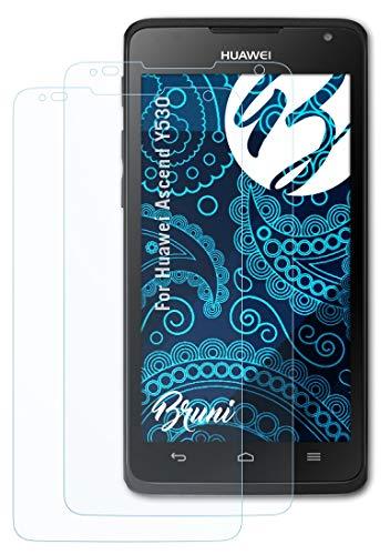 Bruni Schutzfolie kompatibel mit Huawei Ascend Y530 Folie, glasklare Bildschirmschutzfolie (2X)